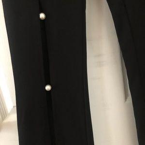 Pants - SAMPLE SALE  Petite Black Pants with Cutouts
